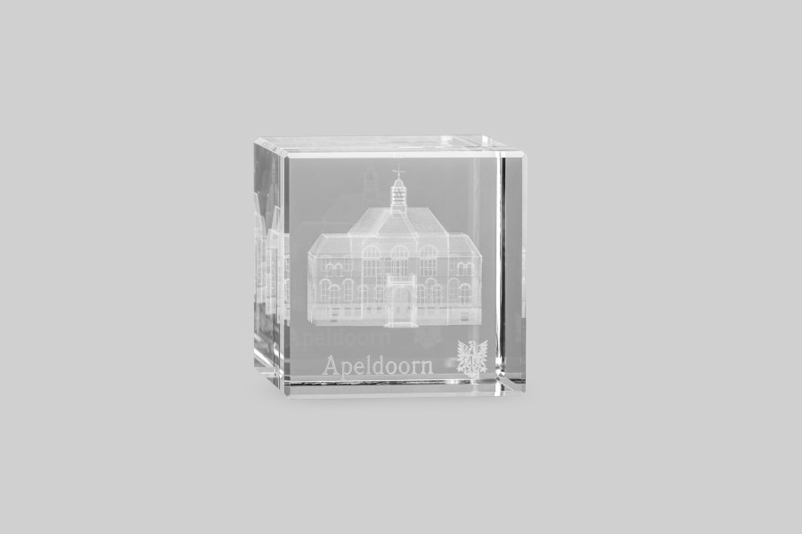 3d Glazen Kubus.Cube