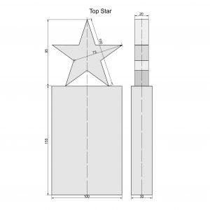 ster trofee van glas gemaakt