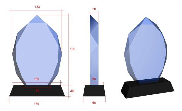 glazen trofee met gratis graveren