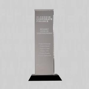 gegraveerde glazen award | gratis gravering en laseren