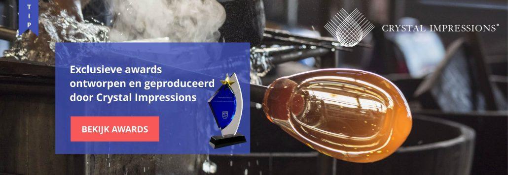 mooie awards met logo graveren