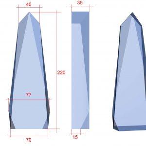 glazen award bedrukken met eigen afbeelding